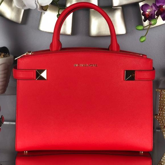 dc71eed33f30 Michael Kors Bags | Last Day Sale Mk Karla Sangria Leather Satchel ...